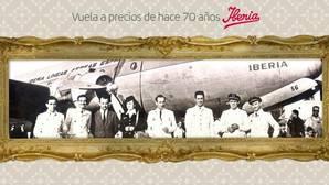 Iberia subasta vuelos hacia América en pesetas y a precios de los años cincuenta