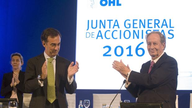 El actual presidente de OHL, Juan Villar-Mir de Fuentes, y Juan Miguel Villar Mir