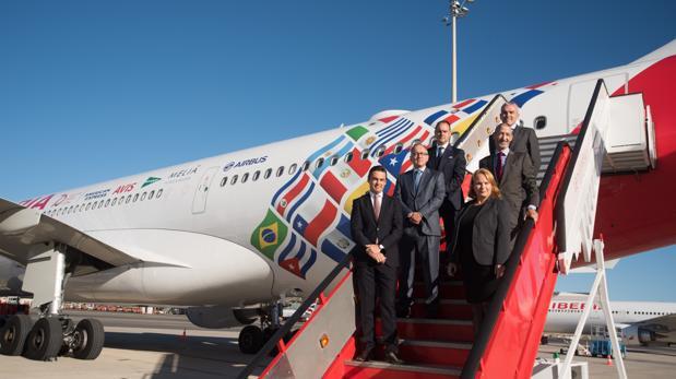Iberia inaugura un nuevo avión para conmemorar sus 70 años volando a Iberoamérica