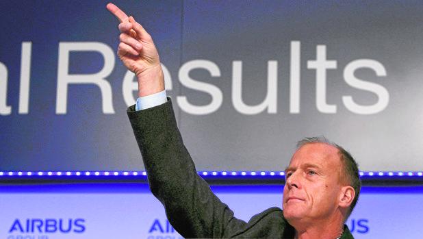 Tom Enders, presidente del grupo Airbus, en la última presentación de resultados