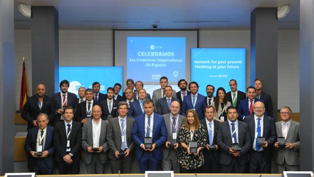 Foto de familia del acto organizado por Cepyme que reconoció a las 75 pymes españolas «que inspiran a Europa»