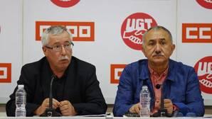 UGT y CC.OO. piden por carta a Rajoy que suba las pensiones el 1,1% en 2017