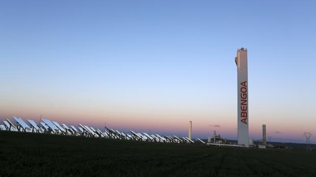 Vista de una planta solar de la compañía andaluza