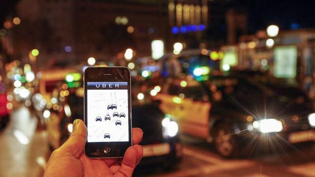 Una muestra del funcionamiento de la aplicación de Uber