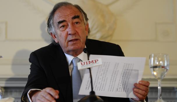 El presidente de Ibercaja, Amado Franco