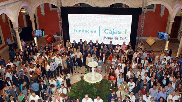 Celebración de un acto en la sede de la Fundación Cajasol
