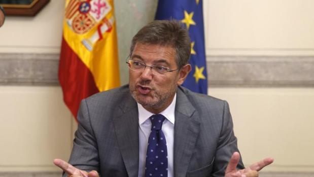 El ministro de Justicia y Fomento en funciones, Rafael Catalá