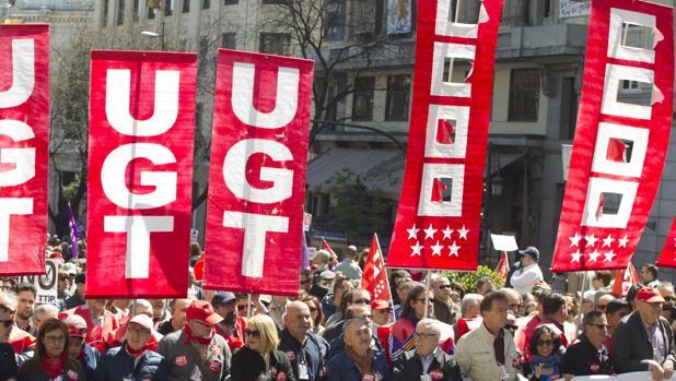 Manifestación de los sindicatos por el 1 de mayo