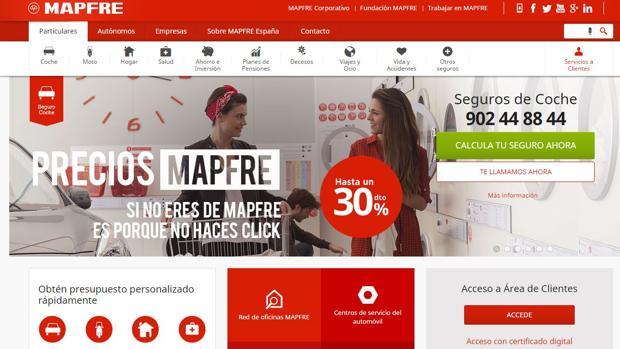 Página web de Mapfre
