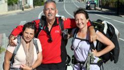 María, Jaime y Covadonga, peregrinos
