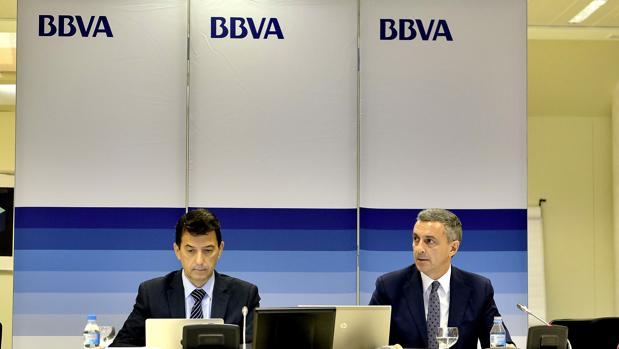 Rafael Doménech y José Ballester, ayer en Sevilla