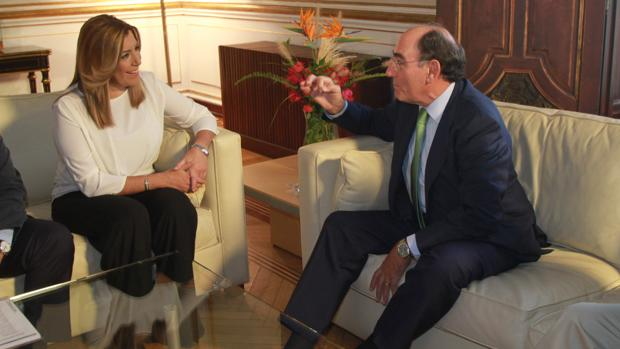Susana Díaz y el presidente de Iberdrola, Ignacio Galán