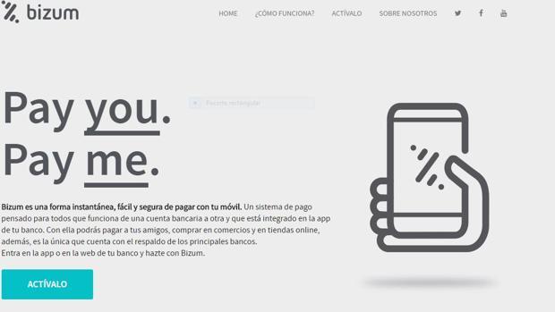 La «app» de Bizum disponible desde el pasado lunes para los clientes de 16 bancos,