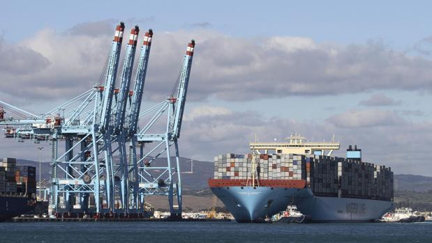 Vista del Puerto de Algeciras, el de mayor tráfico de España