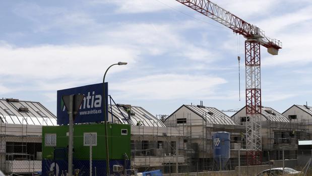 Viviendas en construcción hoy en Valdebebas, Madrid
