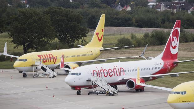 TUIfly operó el domingo sólo 10 conexiones con aviones alquilados