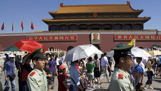 Vista de la Plaza de Tiananmen en Pekín (China)