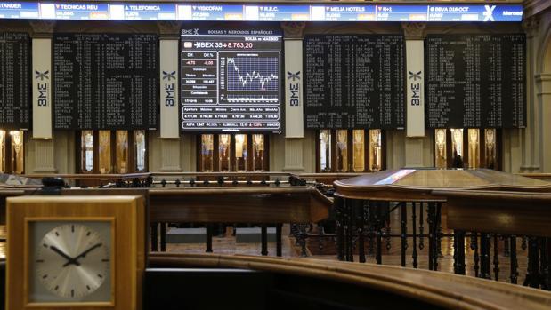 Panel de la Bolsa española