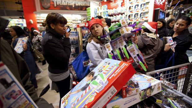 Campaña navideña de Toy 'R' Us en Nueva York