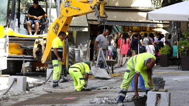 Trabajadores de la construcción en Toledo