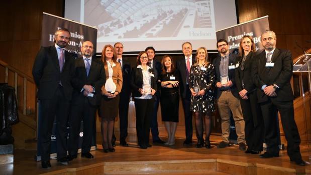 Algunos de los premiados en la IX Edición del Premio Hudson-ABC