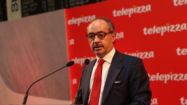 El presidente de Telepizza, Pablo Juantegui,