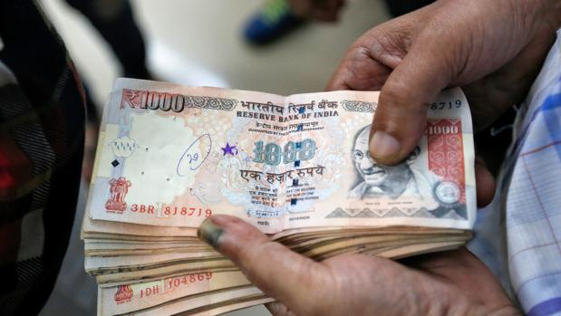 Billete de 1.000 rupias