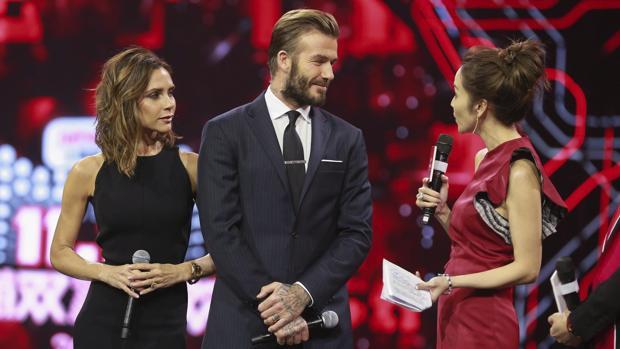 Victoria y David Beckham, en la presentación del Día del Soltero