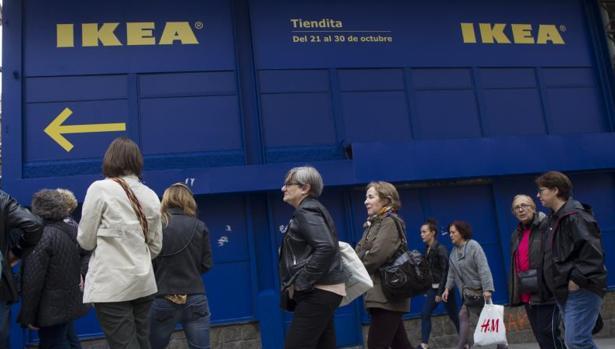 Tienda efímera de Ikea en el centro de Madrid