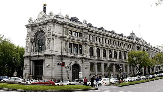 La fachada del Banco de España