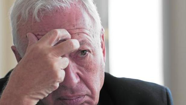 El exministro durante la entrevista en la Fundación Rafael del Pino