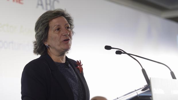La presidenta de Unespa, Pilar González de Frutos