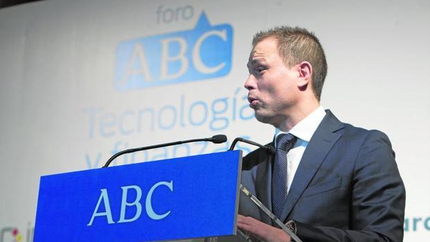 Alberto Hernández, director general de Incibe, durante su intervención en el Foro ABC de Tecnología y Finanzas