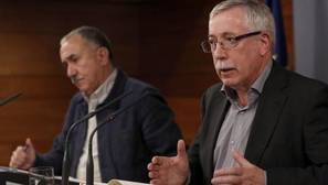 Los sindicatos anuncian movilizaciones para diciembre contra las líneas rojas al diálogo social
