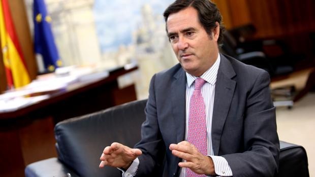 Antonio Garamendi, presidente de Cepyme, en una entrevista