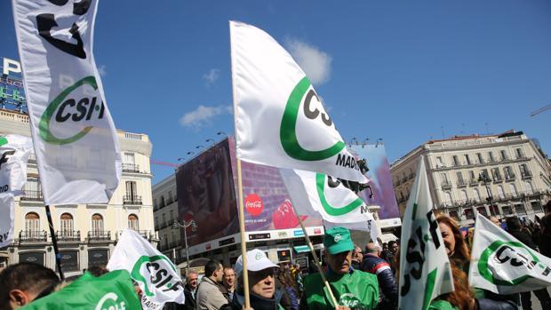 Manifestación de CSIF
