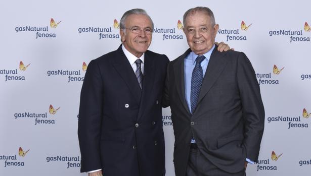 Isidro Fainé, presidente de Gas Natural, en el momento del relevo a Salvador Gabarró, entonces presidente de la gasista