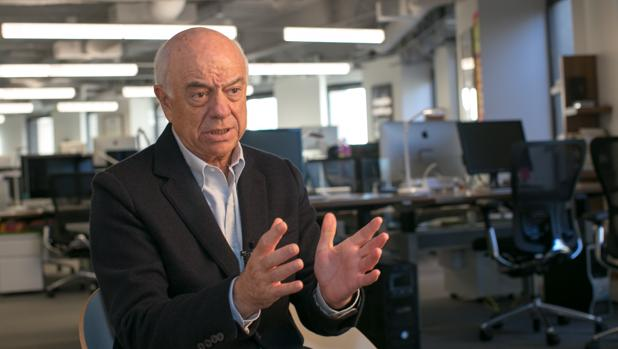 Francisco González, presidente de BBVA, durante la entrevista