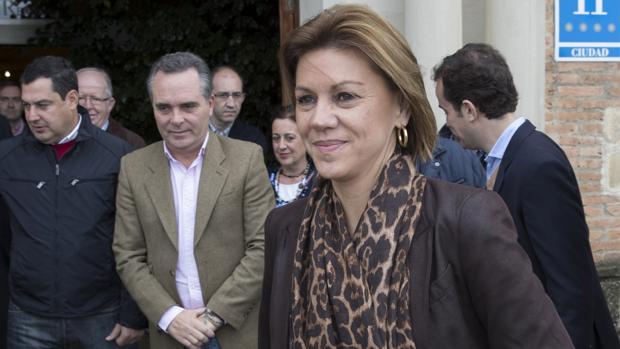 La ministra de Defensa, María Dolores de Cospedal, en Sevilla este pasado fin de semana