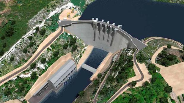 Infografía de la central de Daivoes que está construyéndose en el país vecino