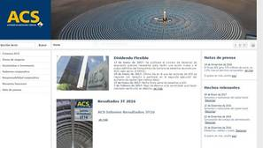 Página web de ACS