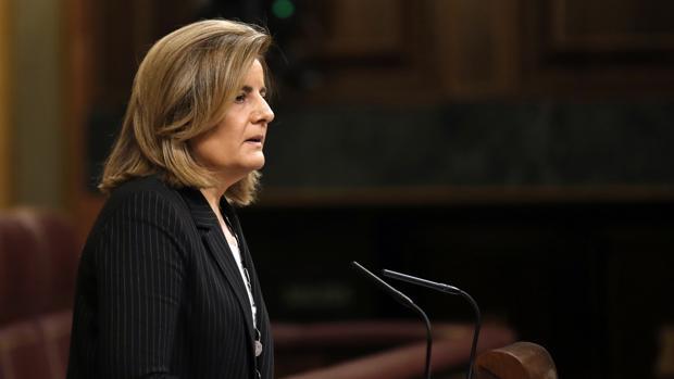 Fátima Báñez, ministra de Empleo, en su comparecencia en el Congreso