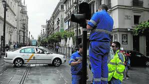 Los semáforos de Sevilla están obsoletos