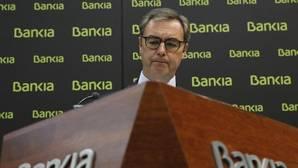 El consejero delegado de Bankia, José Sevilla, durante la presentación hoy de los resultados de la entidad en el primer trimestre de 2017