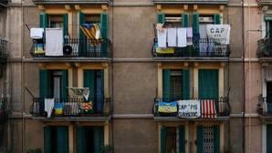 Protesta contra los apartamentos turísticos en Barcelona