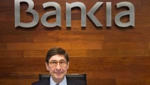 El presidente de Bankia, José Ignacio Goirigolzarri, durante la rueda de prensa que ha ofrecido para presentar los resultados de la entidad en 2016. Bankia obtuvo un beneficio neto atribuido de 804 millones de euros en 2016,