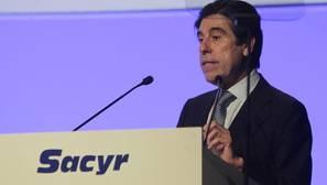 Manuel Manrique, presidente de Sacyr, durante la junta de accionistas de este jueves