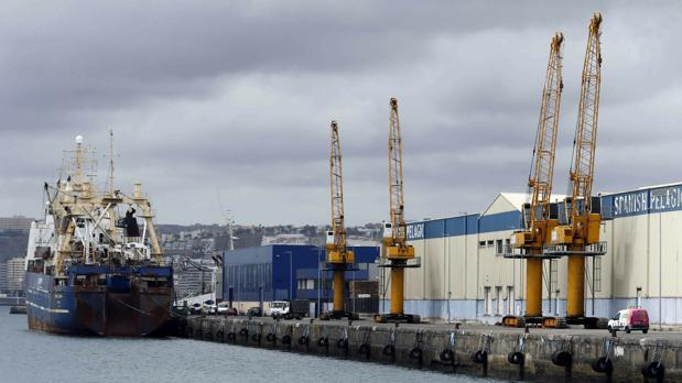 Grúas paradas en el puerto de Las Palmas durante la última huelga de estibadores