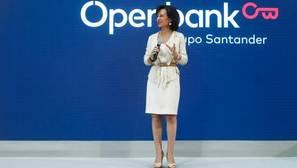 Ana Botín durante la presentación del nuevo Openbank