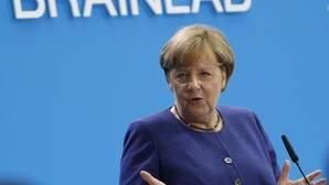 Angela Merkel, canciller alemana, pronuncia un discurso este lunes